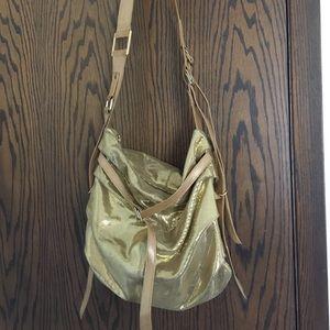 Gold Rachel Abrams purse